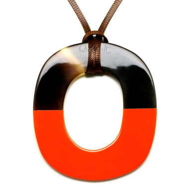 Horn & Lacquer Pendant #12202 - HORN.JEWELRY by QueCraft