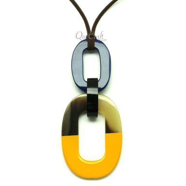 Horn & Lacquer Pendant #13048 - HORN.JEWELRY