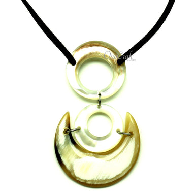 MOP & Horn Pendant #13165 - HORN.JEWELRY by QueCraft