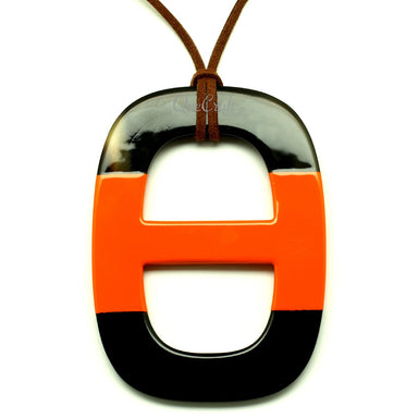 Horn & Lacquer Pendant #13223 - HORN.JEWELRY