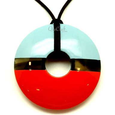 Horn & Lacquer Pendant #13435 - HORN.JEWELRY