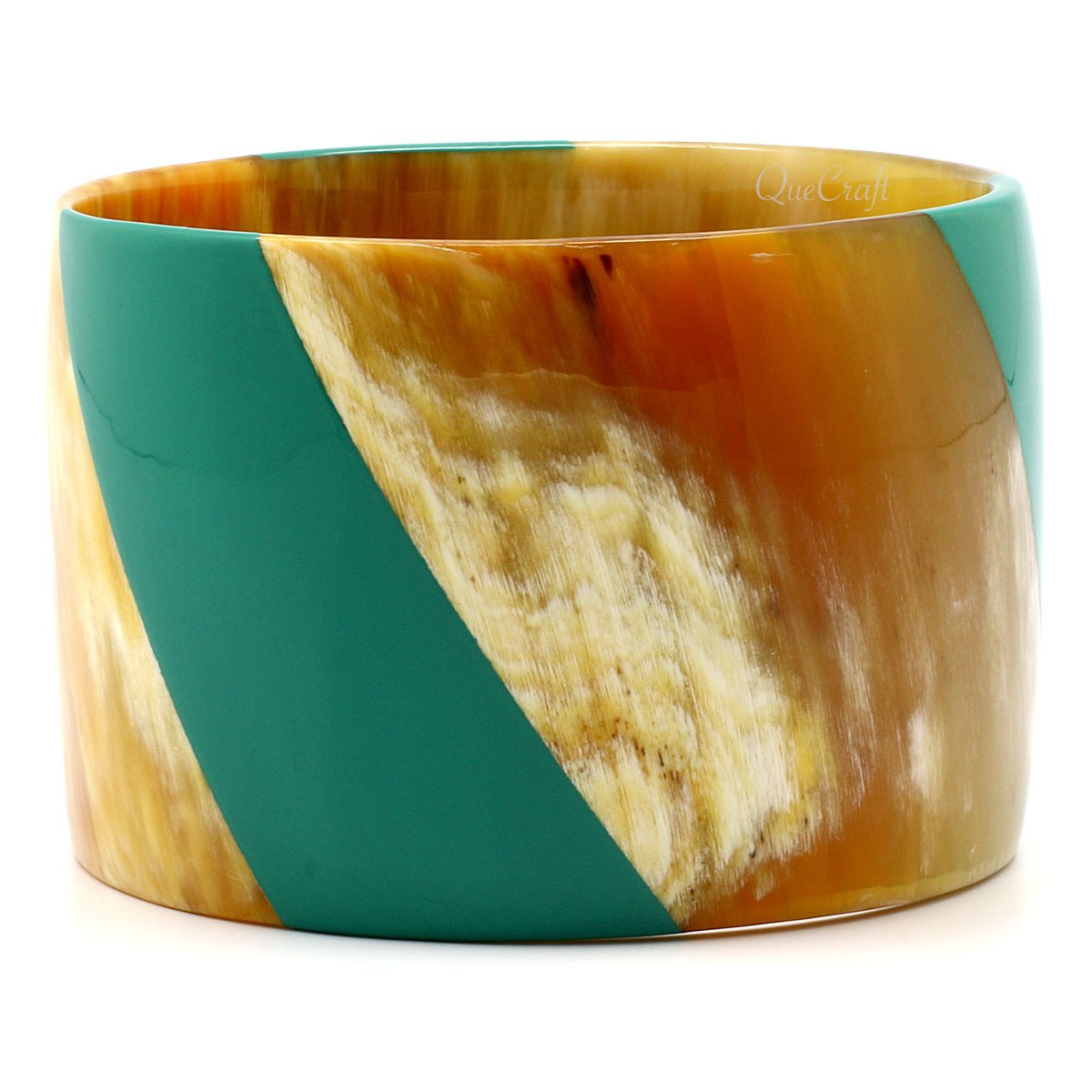 Horn & Lacquer Bangle Bracelet #7388 - HORN.JEWELRY