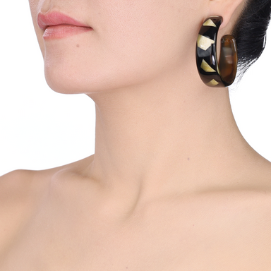 Horn Earrings #13876 - HORN.JEWELRY by QueCraft
