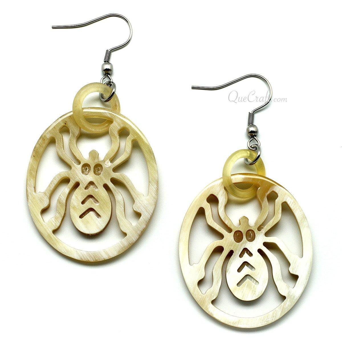 Horn Earrings #11624 - HORN.JEWELRY by QueCraft