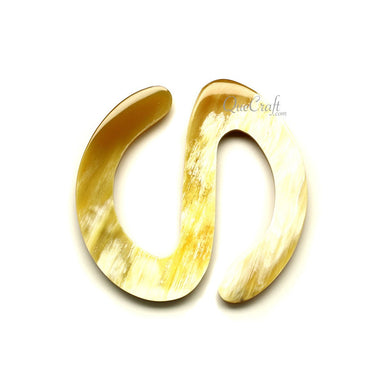 Horn Scarf Ring #12231 - HORN.JEWELRY by QueCraft