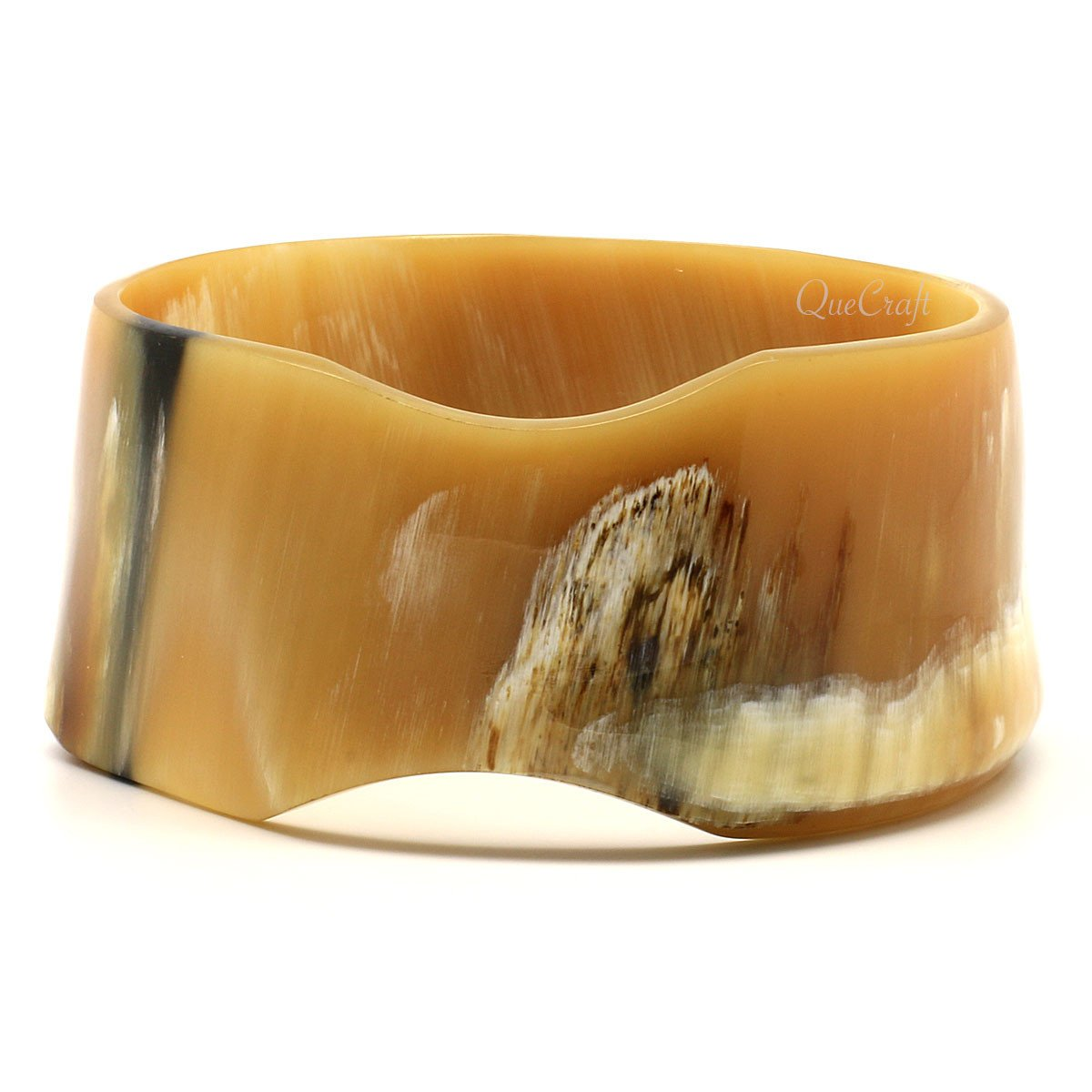 Horn Bangle Bracelet #8988 - HORN.JEWELRY by QueCraft