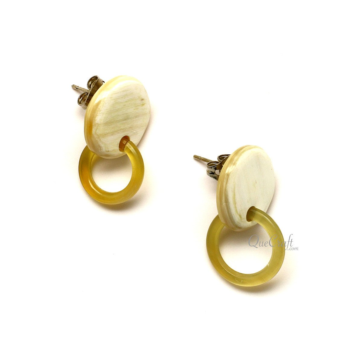 Horn Ear Studs #12385 - HORN.JEWELRY by QueCraft