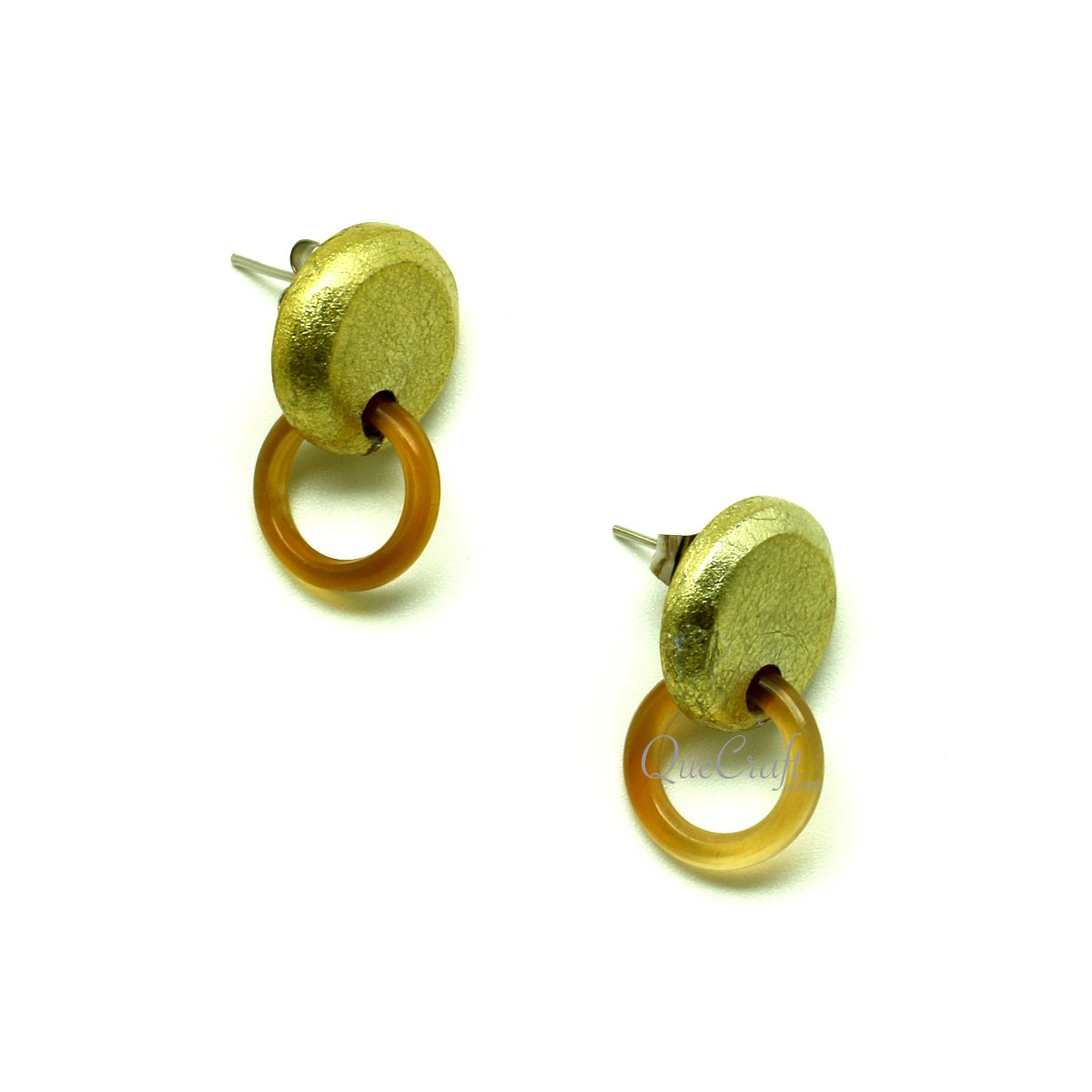 Horn & Lacquer Ear Studs #13194 - HORN.JEWELRY by QueCraft