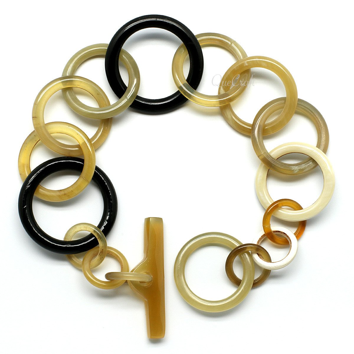 Horn Chain Bracelet #9875 - HORN.JEWELRY by QueCraft