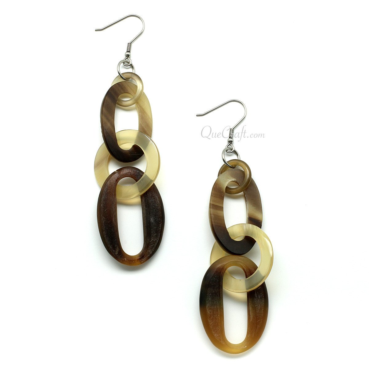 Horn Earrings #11478 - HORN.JEWELRY by QueCraft