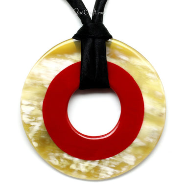 Horn & Lacquer Pendant #11356 - HORN.JEWELRY