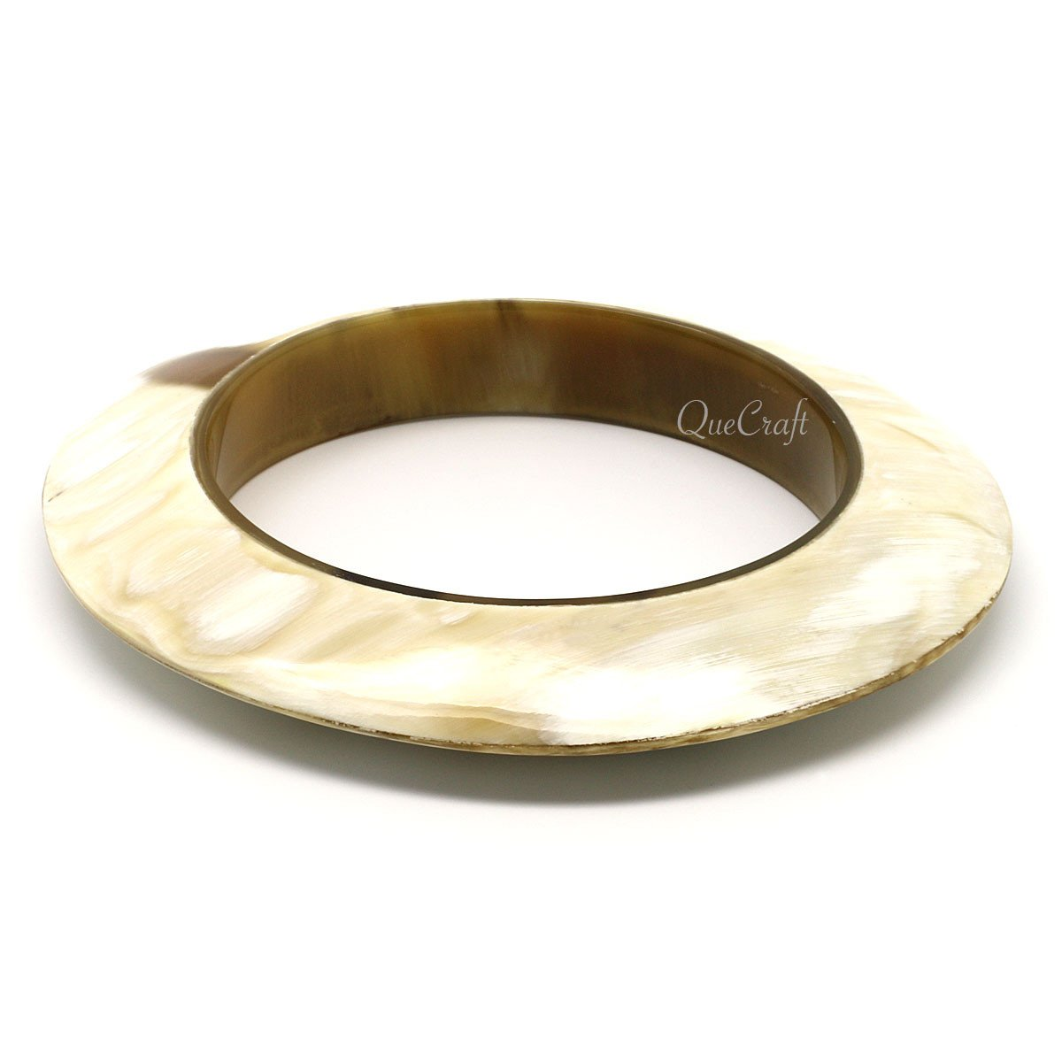 Horn Bangle Bracelet #9433 - HORN.JEWELRY by QueCraft