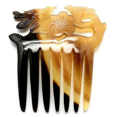 Horn Hair Comb #10465 - HORN.JEWELRY