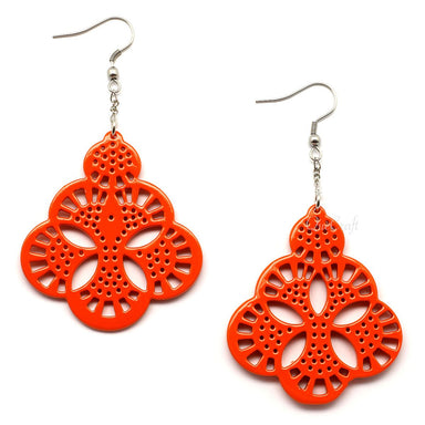 Horn & Lacquer Earrings - Q4993