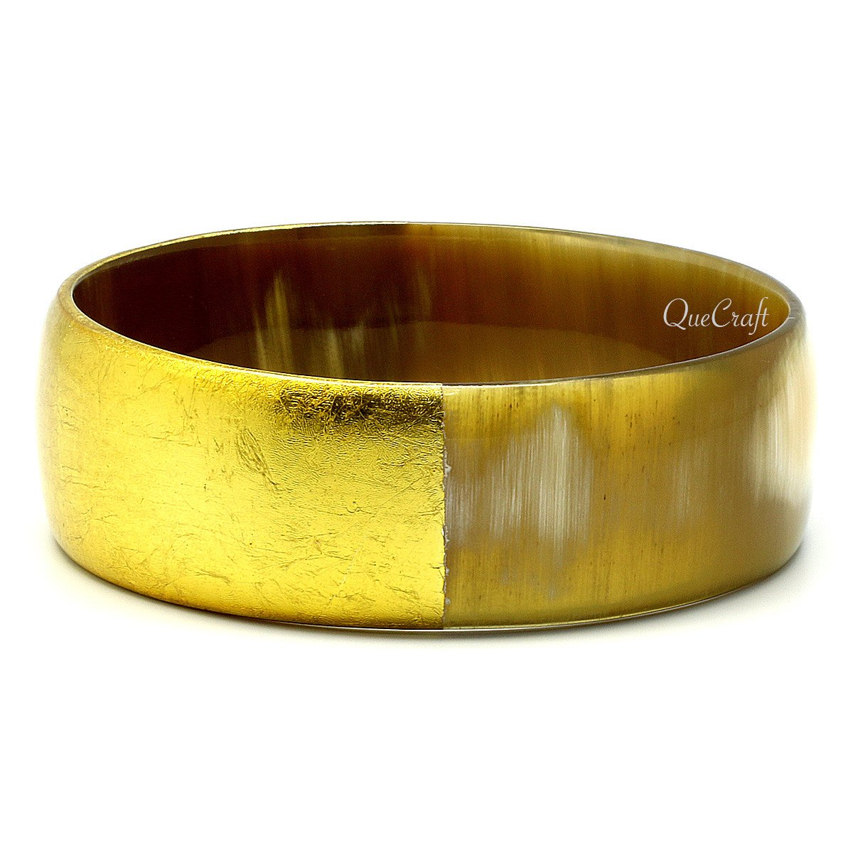 Horn & Lacquer Bangle Bracelet #7270 - HORN.JEWELRY by QueCraft