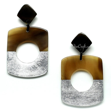 Horn & Lacquer Earrings - Q11394