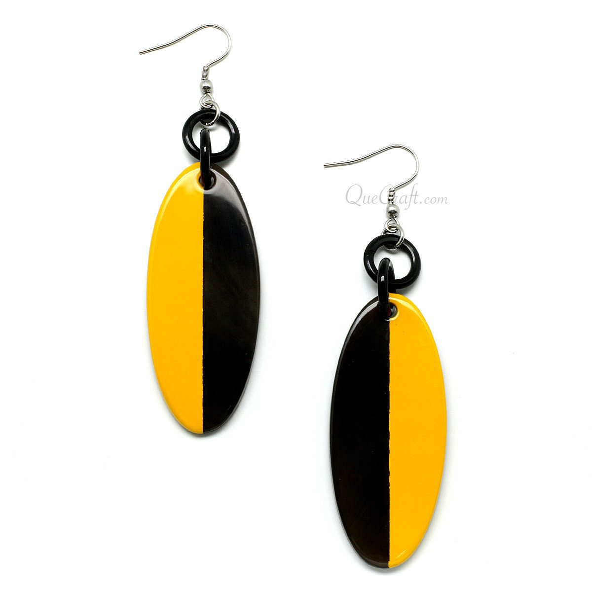 Horn & Lacquer Earrings #11389 - HORN.JEWELRY