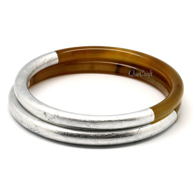 Horn & Lacquer Bangle Bracelets #11564 - HORN.JEWELRY