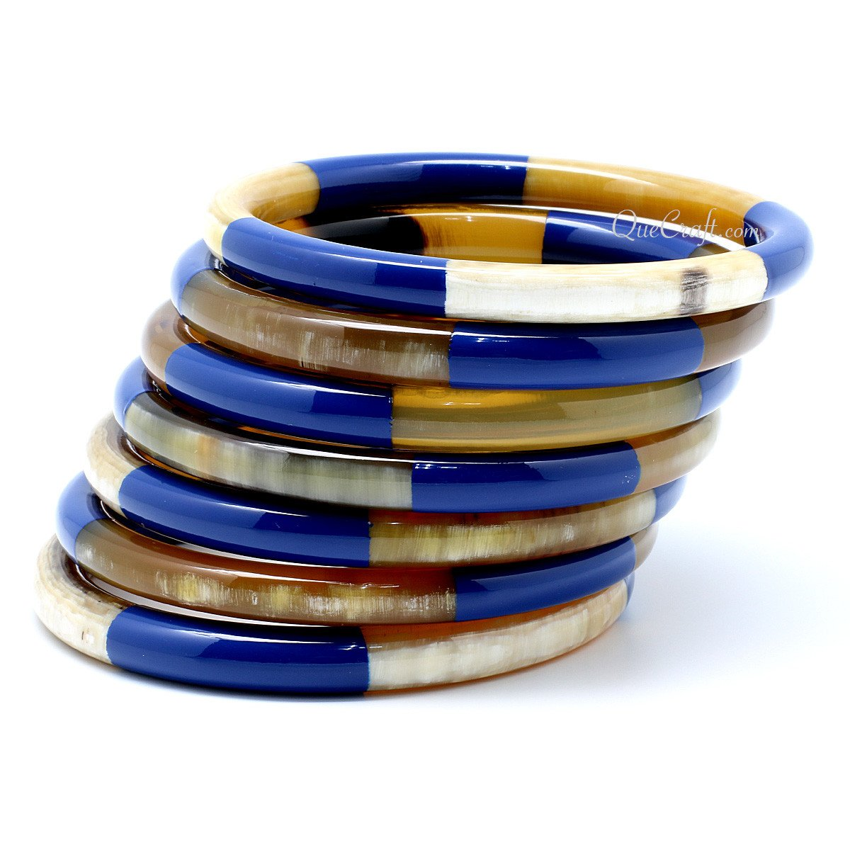 Horn & Lacquer Bangle Bracelets #8468 - HORN.JEWELRY by QueCraft