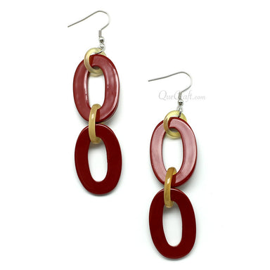 Horn & lacquer Earrings - Q9732