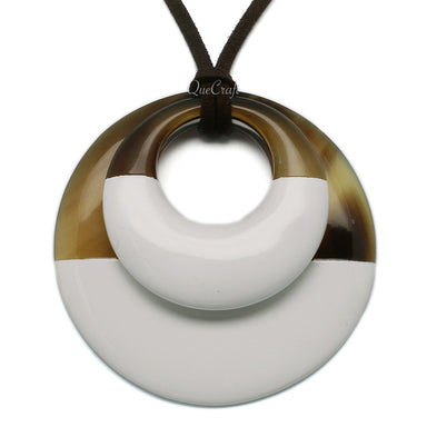 Horn & Lacquer Pendant #6288 - HORN.JEWELRY