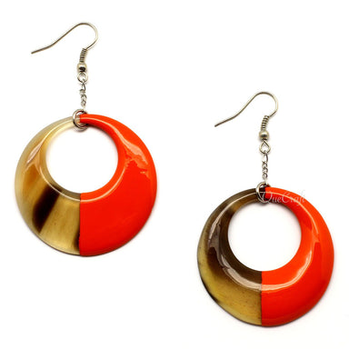 Horn & Lacquer Earrings - Q5117