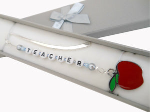Handmade Personalised Engraved Teacher's Bookmark with Gift Box