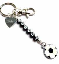 Load image into Gallery viewer, Handmade, Personalised, Engraved Keyring with a Trigger Clip