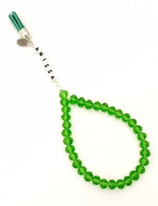 Handmade Personalised 33 Crystal Beads Tasbeeh/Prayer Beads. Ramadan/Eid/Umrah/Hajj Gift.