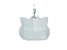 Load image into Gallery viewer, personalised sterling silver cat tag