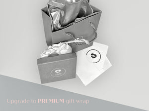 premium gift packaging comprising of a gift box, gift bag, jewellery pouch, gift card with envelope and tissue paper