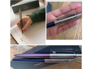 Personalised Engraved Parker Jotter Ballpoint Pen with Stainless Steel Trim & Black Ink