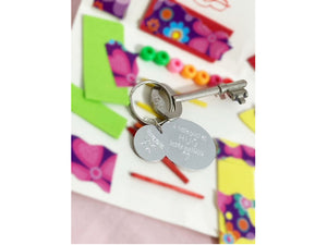 Handmade Personalised Engraved Pocket hug keyring Keyring. Lockdown/friends/grandparents/Till We Meet Again Hug