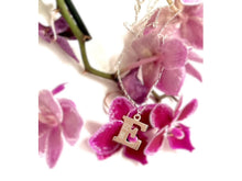 Load image into Gallery viewer, Handmade Personalised Engraved Sterling Silver Initial Pendant with Necklace