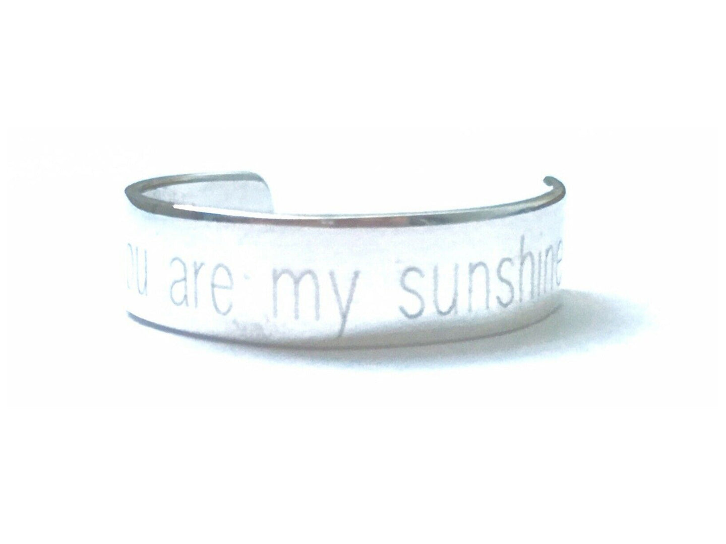 Handmade Personalised Engraved Sterling Silver Cuff Ring