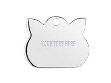 Load image into Gallery viewer, sterling silver personalised cat tag