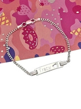 Load image into Gallery viewer, girls sterling silver personalised identity bracelet