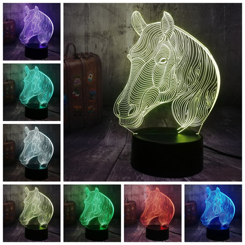 3D Horse 7 Color Change LED Night LIght - Shop Better Health