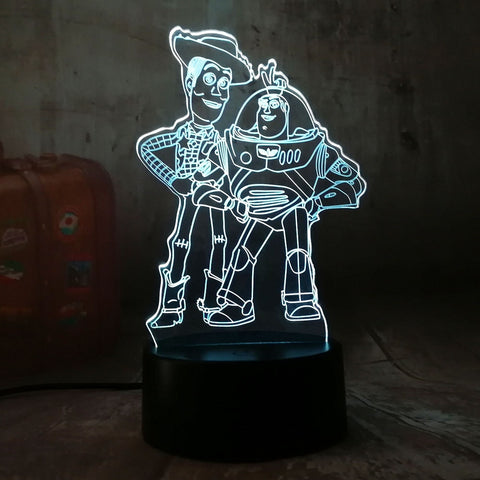 3D Toy Story LED 7 Color Change Night Light - Shop Better Health