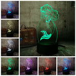 3D Little Mermaid LED 7 Color Change Night Light - Shop Better Health