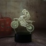 3D Motorcycle LED 7 Color Change Night Light - Shop Better Health