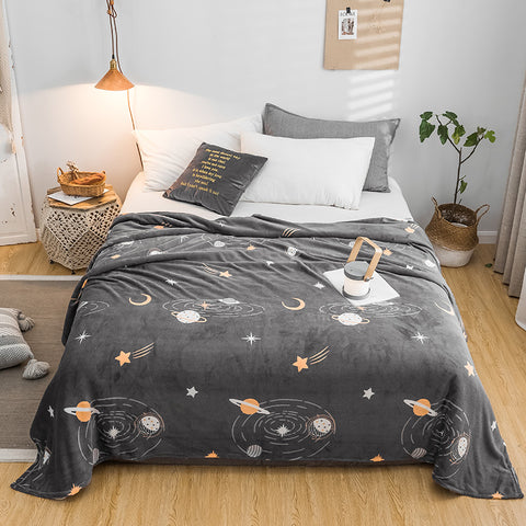 Starry Sky Super Soft Flannel Blanket