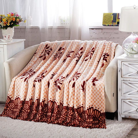 Leaf Style Fleece Blanket