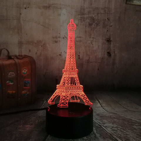 3D Paris Eiffel Tower LED 7 Color Change Night Light - Shop Better Health