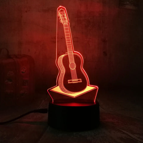 3D Guitar LED 7 Color Change Night Light - Shop Better Health