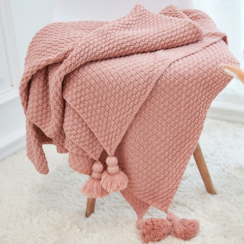 Knitted Throw Assorted Colors