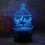 3D Merry-Go-Round LED 7 Color Change Night Light - Shop Better Health