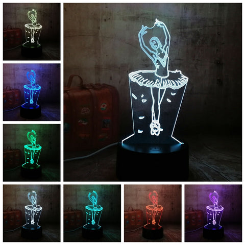 3D Ballet Dancer LED 7 Color Change Night Light - Shop Better Health