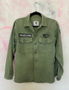 DD Green Military Fatigue Overshirt- PAINT