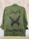 DD Green Military Fatigue Overshirt- BLACK SPARKLE
